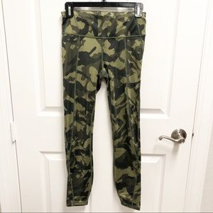 👖GAP Sculpt Compression Green Camo Leggings Sz S